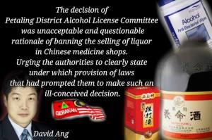 David Ang Liquor ban
