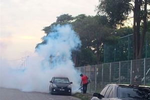 Controlling the situation: Fogging exercise is being carried out regularly by the Klang Health Department (Photo: The Star)