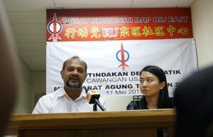 Subang Jaya assemblyman Hannah Yeoh (left) and Puchong MP Gobind Singh Deo (right) speak on claims that plot ratios in Subang Jaya are due to increase dramatically. – The Malaysian Insider pic by Raymund Wong, October 18, 2015. - See more at: http://www.themalaysianinsider.com/citynews/greater-kl/article/yeoh-denies-approval-given-for-increased-plot-ratios-in-subang-jaya#sthash.FKjtfrkh.dpuf