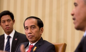 Joko Widodo has told Barack Obama that Indonesia will join the Trans-Pacific Partnership. Photograph: Martin H Simon/EPA